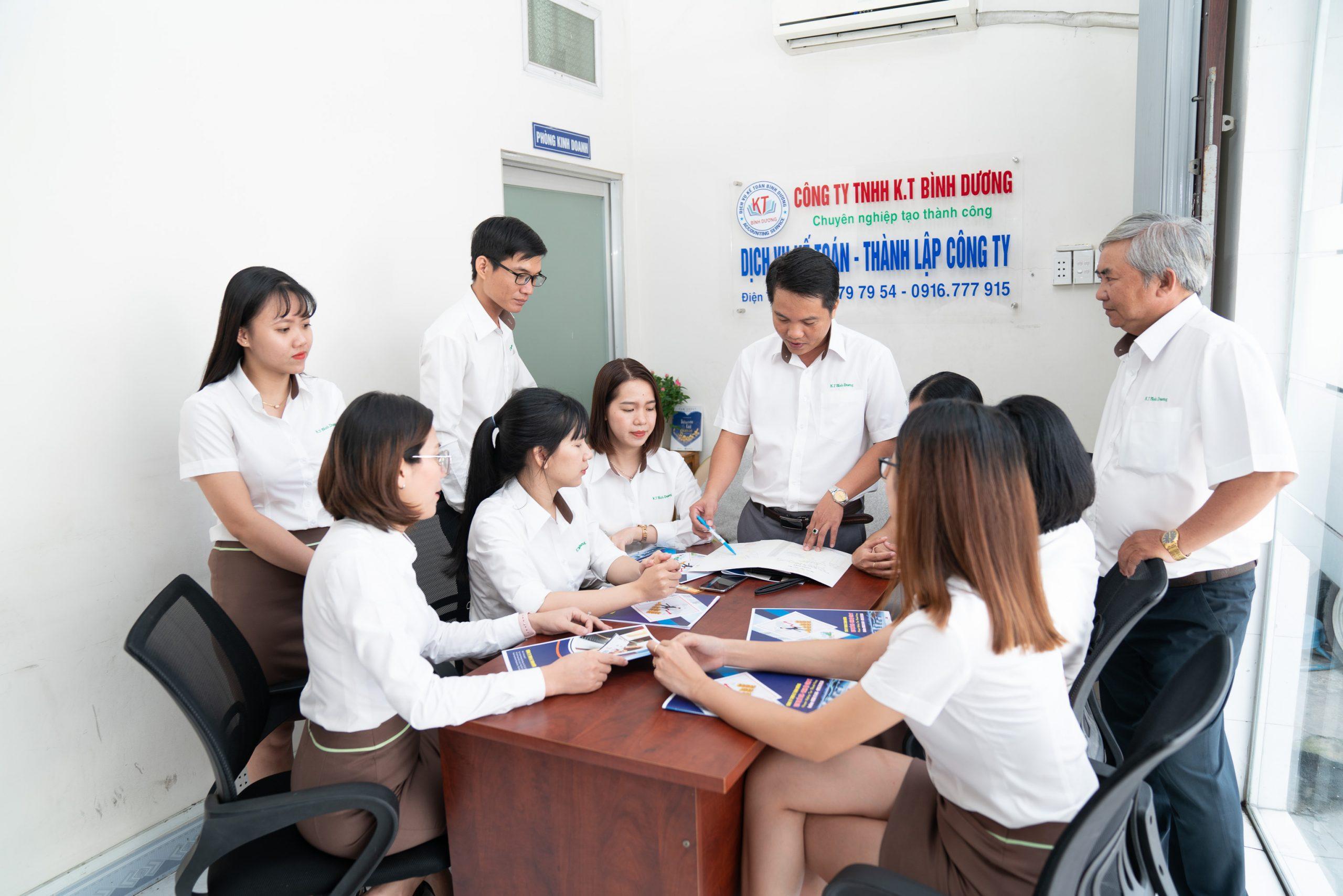 quy trình làm việc của dịch vụ kế toán bình dương